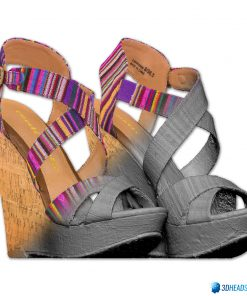 Female Shoes; Colorful Wedge 10