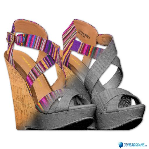 Female Shoes; Colorful Wedge 5