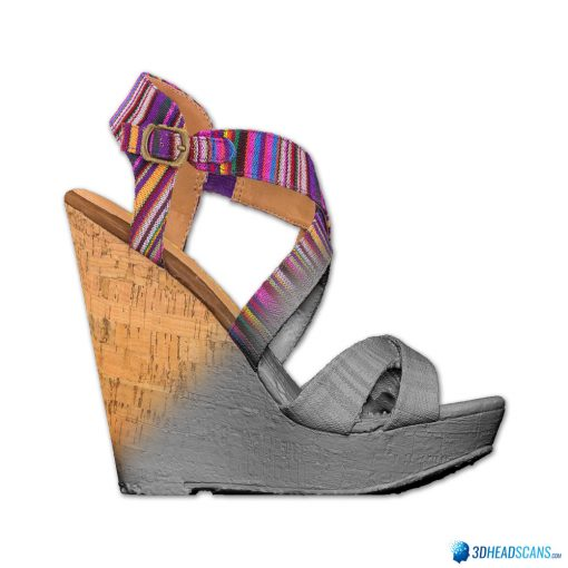 Female Shoes; Colorful Wedge 4
