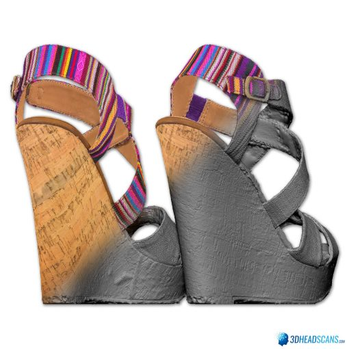 Female Shoes; Colorful Wedge 3