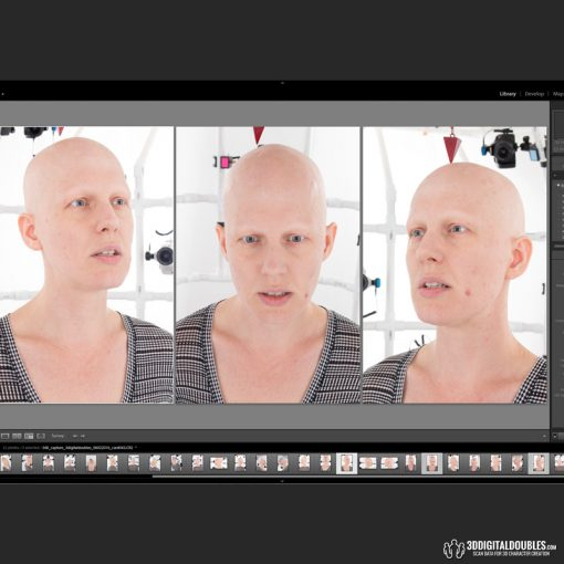 3D Head Scans; F047 Neutral 360 1